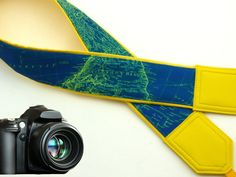 InTePro DSLR Camera Strap. World Map Camera Strap. Camera accessories. Photographer gift.