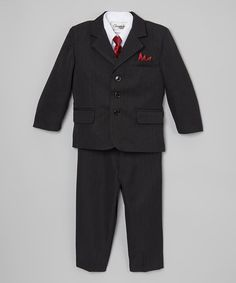 Another great find on #zulily! Black & White Five-Piece Suit - Toddler & Boys #zulilyfinds