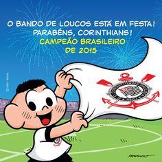 Maurício de Sousa desenha Cascão comemorando título do Corinthians