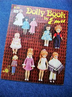 Vintage 70s Knitting Pattern Dolly Book by Emu Cute Knit & Crochet Dolls Clothes