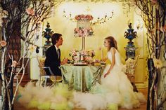 The bride and groom at the fantasy wedding reception by Tinywater Photography