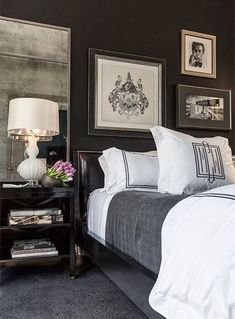 While glittering living rooms and blinding entryways are often the rule, Luxury Master Bedroom interior design is more restrained. Gorgeous Bedrooms, Bedroom Inspirations, Home Bedroom, Bedroom Interior, Bedroom Decor, Beautiful Bedrooms, Interior Design, Home Decor, House Interior