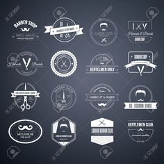 Illustration about Perfect set of barber and haircut logos. Men s haircuts logo collection made in vector. Badges, labels and design elements. Illustration of logo, moustache, barbershop - 47500472 Barber Logo, Barber Shop, Haircut Salon, Beard Barber, Art Business Cards, Haircuts For Men, Men's Haircuts, Icon Collection, Design Graphique