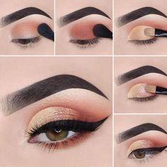 The 25 best ideas of natural makeup looks for a beautiful woman B - Make-Up - Eye Makeup Eye Makeup Steps, Makeup Eye Looks, Cute Makeup, Makeup Tips, Beauty Makeup, Makeup Ideas, Makeup Pro, Makeup Hacks, Gorgeous Makeup