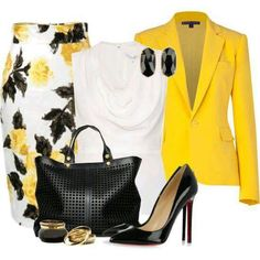 Love this outfit, but not sure about the bright yellow on my skin tone.