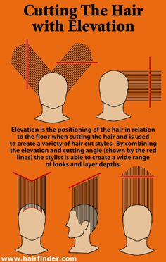 cutting hair with elevation