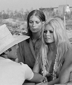 "missbrigittebardot: "" Brigitte Bardot and her little sister Mijanou, 1968 """