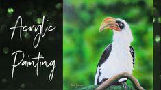 Painting a realistic bird - time lapse Painting Videos, Bird, Tv, Artwork, Animals, Instagram, Work Of Art, Animaux, Birds