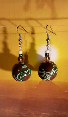 Hey, I found this really awesome Etsy listing at https://www.etsy.com/listing/493101388/earth-drop-earrings-polymer-beads-beaded