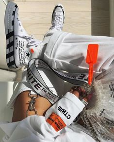 streetstyle/streetwear/NIKE shoes/Nike x off-white shoes/favourite Nike/Shoes Styles & Design/sneakers/sport/men/woman/style/Converse Converse Chuck, Estilo Converse, Off White Converse, White Converse Outfits, Off White Shoes, White Outfits, Black Shoes, White Shoes Outfit, Off White Belt