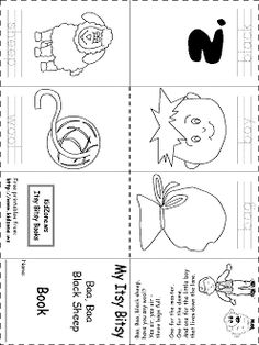 Printable Template To Make A Small Book About The Nursery Rhyme Baa Black Sheep For Preschool And Kindergarten Aged Children