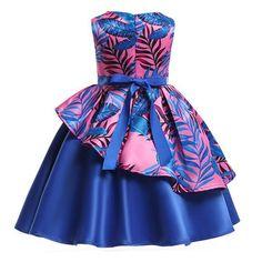 African Dresses For Kids, African Wear Dresses, Latest African Fashion Dresses, African Print Fashion, Toddler Girl Dresses, Girls Dresses, Dress Fashion, Blue Dresses For Kids, Princess Dress Kids