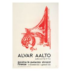 This exhibition of Alvar Aalto's architecture and design was shown in Florence, Italy, in Chinese Architecture, Modern Architecture House, Futuristic Architecture, Modern Houses, Palazzo, Illustrations Posters, Art Posters, Studio Build, Renaissance Era