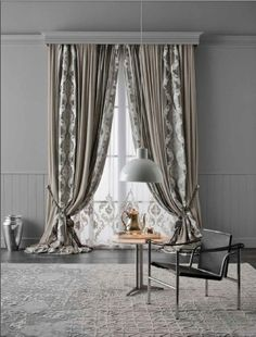 Taimyr Allover tenda - Chicca Orlando - Italian Craftmanship - Luxury texile furnitures for you home in 2019 Bedroom Curtains With Blinds, Living Room Decor Curtains, Luxury Curtains, Elegant Curtains, Bedroom Windows, Room Decor Bedroom, Curtain Designs, Stores, Interior Design Living Room