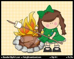 Girls Go Scouting Digital Clip Art Commercial by ResellerClipArt
