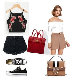 """""""Summer outfits ⛱"""" by shahdsunshine on Polyvore featuring Nobody Denim, Converse and Mulberry"""