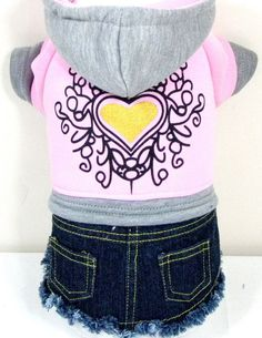 Good Dog Puppy Pet Clothes Apparel Hoodie Jeans Dress For Small Girl Dog Size S