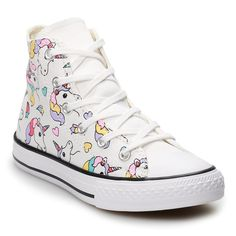 a4f182db76140 Girls  Converse Chuck Taylor All Star Unicorn Rainbow High Top Shoes
