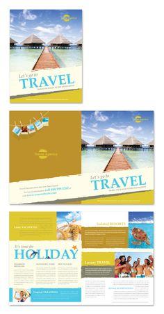 Travel Agency Brochure Template http://www.dlayouts.com/template/296/travel-agency-brochure-template