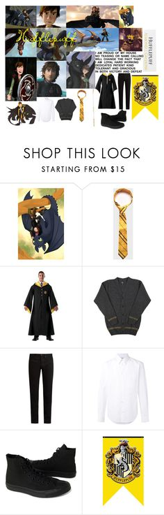 """""""Hiccup In Hufflepuff"""" by shadow-948 ❤ liked on Polyvore featuring Merida, Disney, KURO, STELLA McCARTNEY and Converse"""