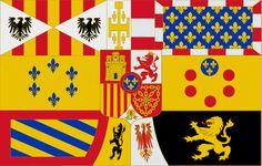 Royal Standard of Alfonso XIII y de Juan de Borbon (1931-1975)
