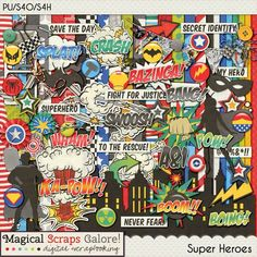 {Super Heroes} Digital Scrapbook Kit by Magical Scraps Galore available at Gingerscraps and ScrapsNPieces http://store.gingerscraps.net/Super-Heroes.html http://www.scraps-n-pieces.com/store/index.php?main_page=product_info&cPath=66_152&products_id=8743 #digiscrap #digitalscrapbooking #memorykeeping #MSG #magicalscrapsgalore