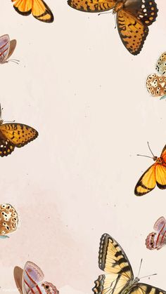 Download premium vector of Butterfly patterned on white mobile phone