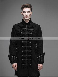1a9efd1ea78 Devil Fashion Vintage Black Double-Breasted Gothic Palace Coat for Men  Fashion Black