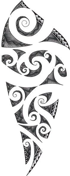 Maori Tattoo Design by ZakonKrancaSwiata.deviantart.com: