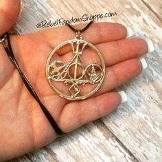 Multi Fandom Pendant: Middle-Harry Potter, Right-Divergent, Bottom-Mortal Instruments, Left-Hunger Games, Top-Percy Jackson
