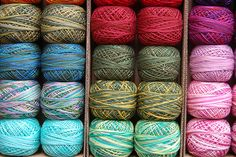 Valdani Pearl Cotton Embroidery Thread - I love all the many varied colors there are to embroider with these days. When I first started embroidery years ago it seemed like there was about 5-10 colors and that was it. Now a wealth of them!