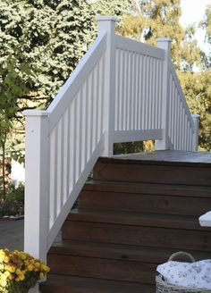 trapp Outdoor Stair Railing, Porch Stairs, Front Stairs, Porch Awning, Black House Exterior, Garden Steps, Garden Planning, Old Houses, Entrance