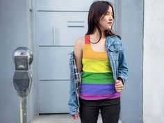 Rainbow - Gay Pride Tank Top    A tank designed specifically for sublimation, ideal for making one-of-a-kind designs with an ultra-soft-to-the-touch feel. 100% Polyester Jersey construction.  If you would like different style or color please ask and we will aim to please.  For sizes above 2XL please enquire as to availability.  ** Please Note Items Are Made To Order But We Aim To Dispatch Within 5 Working Days**