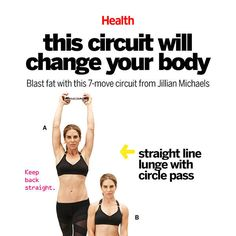 A Pinterest-friendly version of the 7 move circuit that will change your body by Jillian Michaels