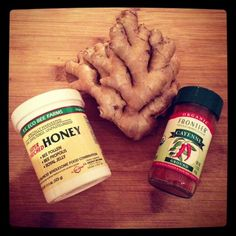 Ginger, honey, and cayenne shot- remedy for sickness