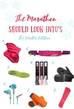 Gear for winter running and marathon training