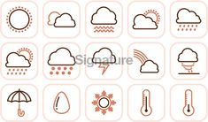 weather icons Cloud Icon, Weather Icons, Clouds, Graphic Design, Ideas, Thoughts, Visual Communication