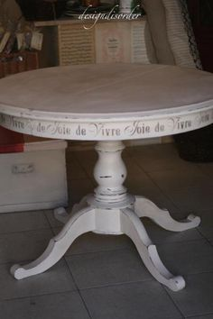 I had a lady come in a few weeks ago looking for a white pedestal table–like the one Ikea has. I told her I didn't have regular stock but I am always looking for new pieces- If I found…