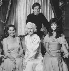 Three generations of Cleary women. Jean Simmons as Fee Cleary, Barbara Stanwyck as Mary Carson, and Rachel Ward as Megan 'Meggie' Cleary in the 1983 miniseries 'The Thorn Birds'