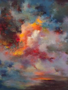 """Saatchi Online Artist: Rikka Ayasaki; Acrylic Painting """"Passions, sunset 7004(60x80x5cm, Painted in 2011)"""""""
