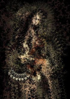 La Madonna, pinceis inspirados na água - L'ubomir Zabadal, Gimp.