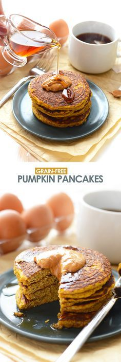 Grain Free Paleo Pumpkin Pancakes #justeatrealfood #fitfoodiefinds