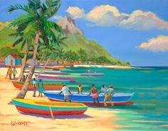Boatmen by artist Shari Erickson