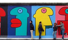berlin wall murals french artist thierry noir who joined protesters mural streetart color pixersize Berlin City, Berlin Wall, Murals Street Art, Street Art Graffiti, Thierry Noir, East Side Gallery, Language Activities, Language Lessons, Reading Activities