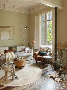 Beste Von Wohnzimmer Modern Rustikal