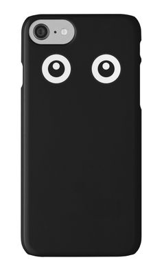Scared Cartoon Eyes in the Dark by XOOXOO  Black and white  iPhone Cases & Skins  PHONE CASE FOR IPHONE 4/4S/5/5C/5S/6/6 PLUS/ 7/7 PLUS