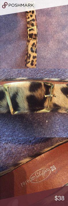 Leopard fur belt sz 28 Leopard fur belt sz 28 Accessories Belts