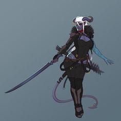 [OC] Art of my tiefling swordmage :) - Imgur