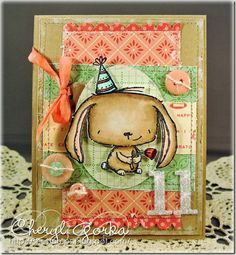 Stamp: Rosie from Purple Onion Designs  Birthday card by Cheryl (Shestamps)