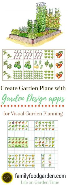 Create garden plans with garden apps